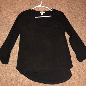 Black Formal Top With Button Detailing